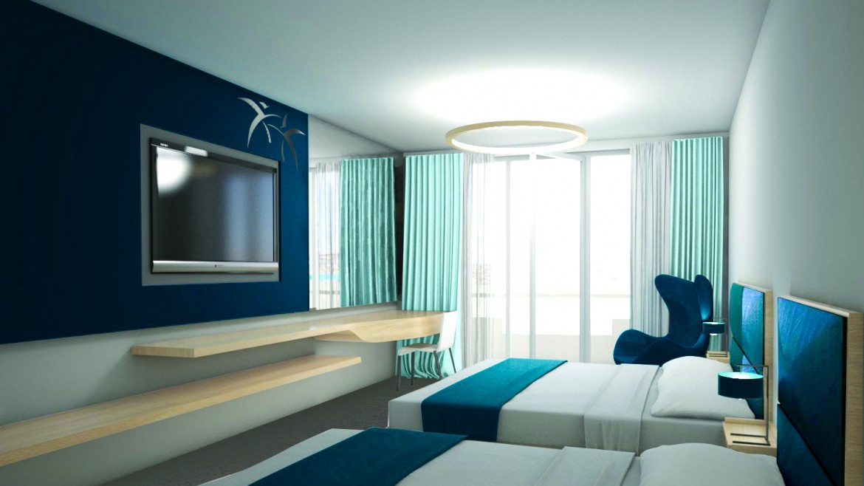 Hotel_soba_modro zelena